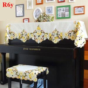 khăn phủ đàn piano hoa cúc vàng