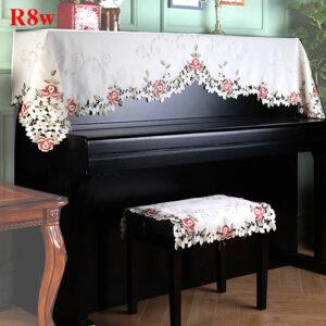 khăn phủ đàn piano thêu hoa TULIP tuyệt đẹp