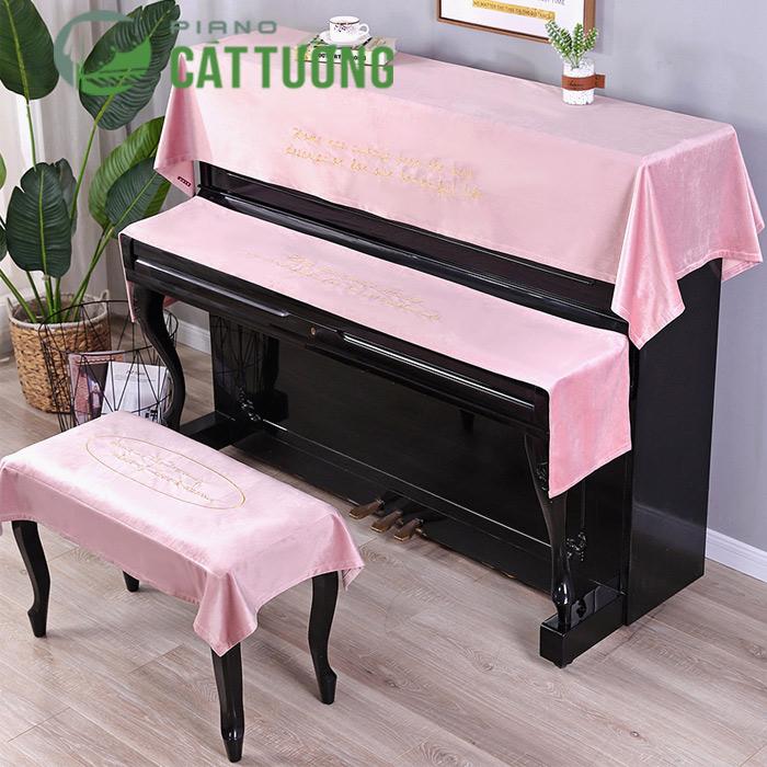 khăn phủ nóc đàn piano