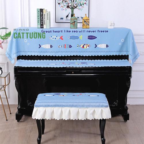 khăn phủ đàn piano cho bé